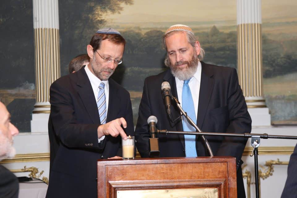 Moshe Feiglin and Shmuel Sackett
