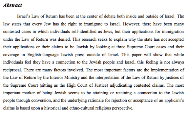 The Jewish State and Law of Return
